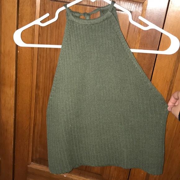 Pacsun Tops La Hearts Green Knit Halter Top Poshmark